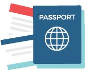 tourist card service icon